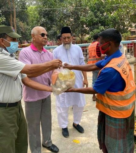 1ST RELIEF DISTRIBUTION ON COVID 19 - 2020